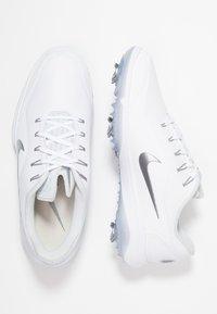 Nike Golf - REACT VAPOR  - Chaussures de golf - white/metallic cool grey/black - 1