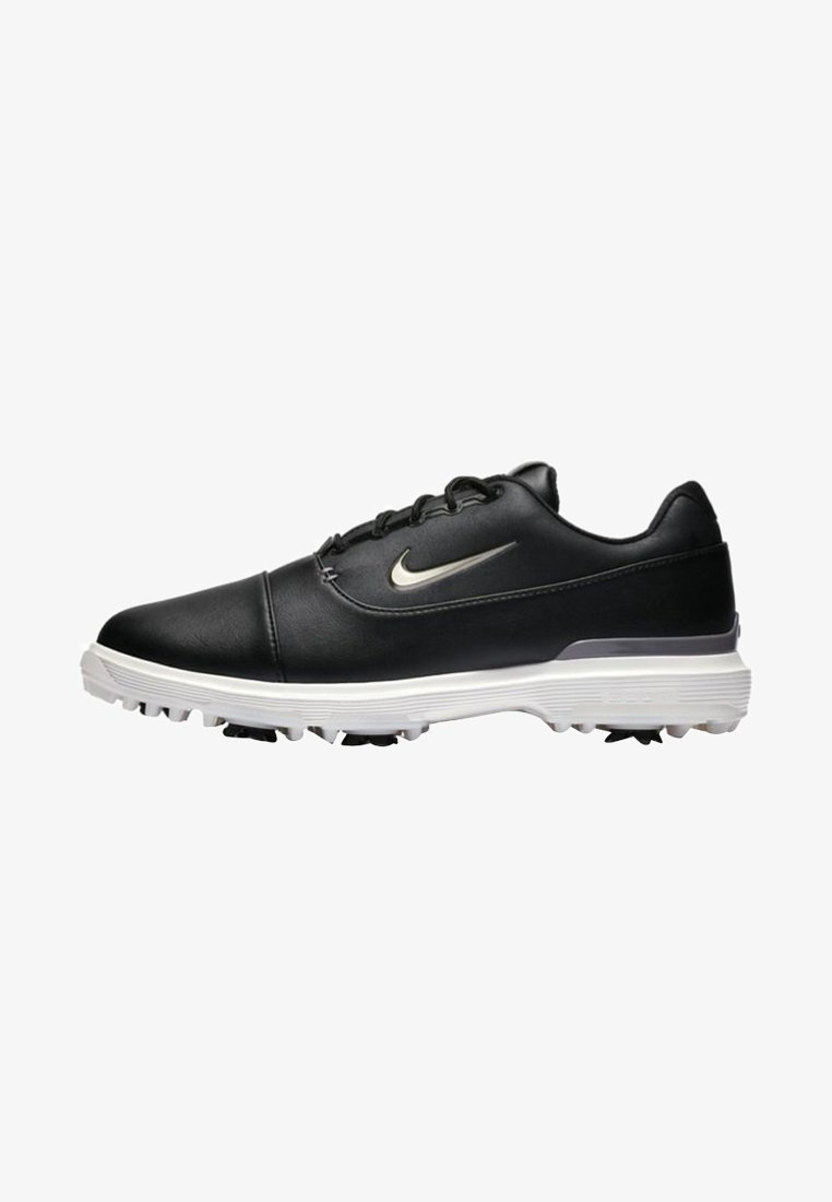 Nike Golf - AIR ZOOM VICTORY PRO - Golf shoes - black/off-white/metallic grey