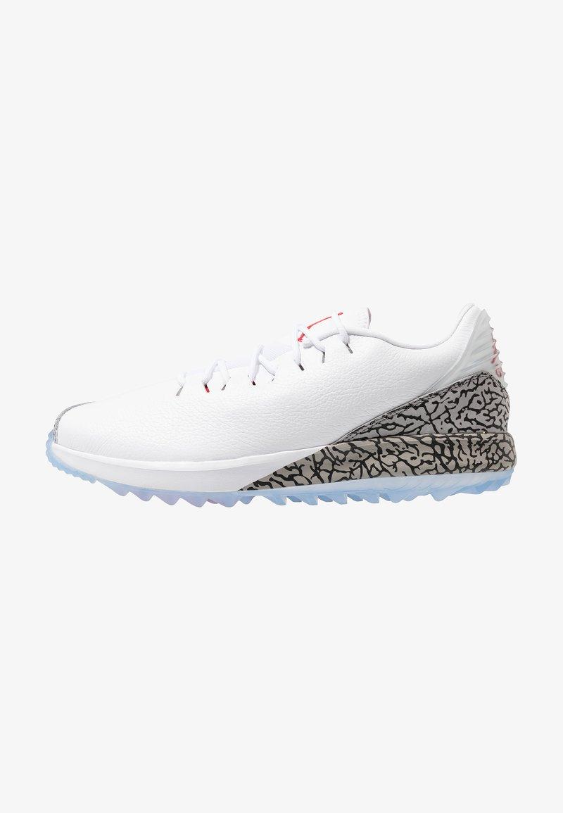 Nike Golf - JORDAN ADG - Zapatos de golf - white/fire red/cement grey