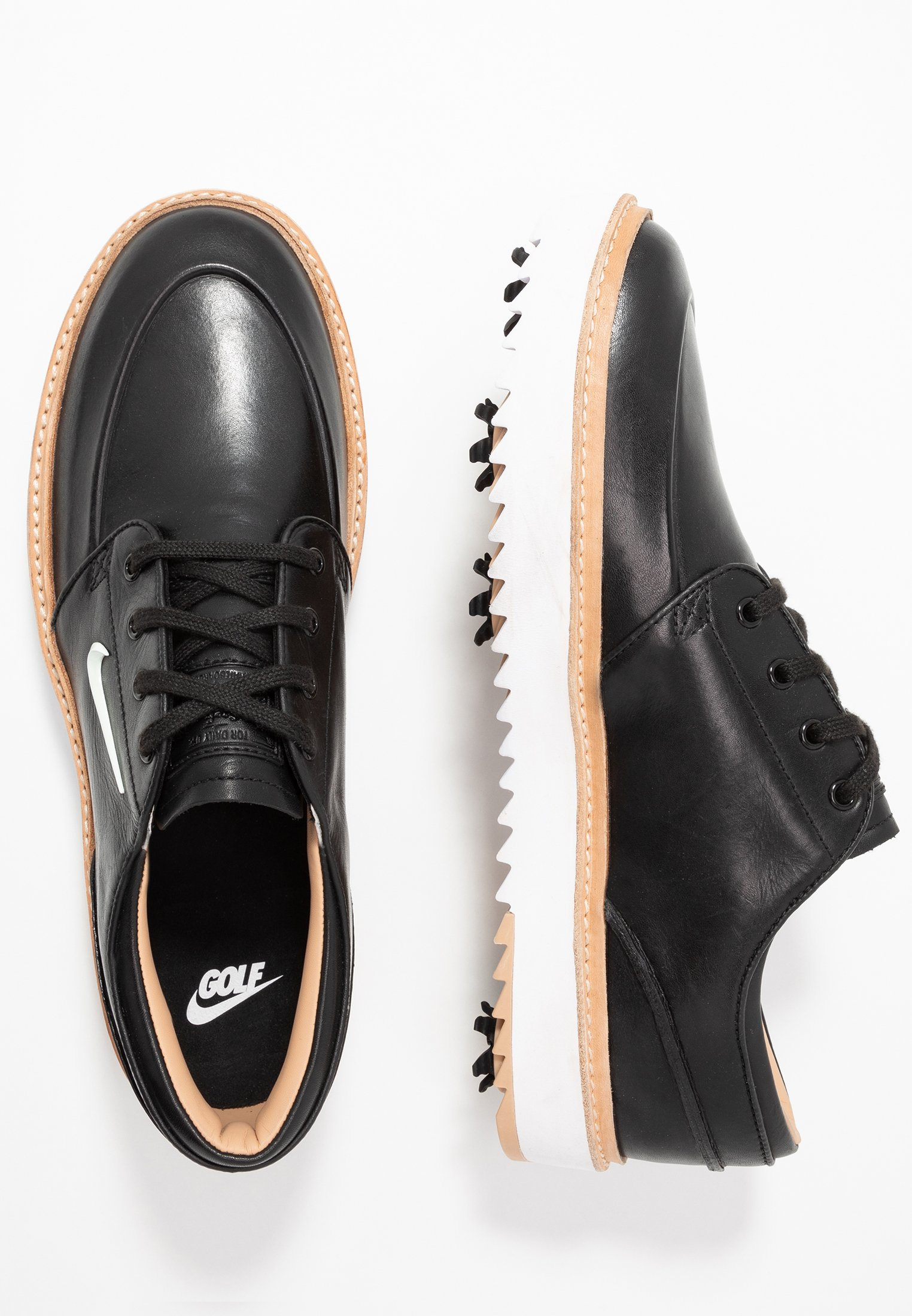 Nike Golf JANOSKI G TOUR - Scarpe da golf - black/metallic white/vachetta tan/medium brown/white