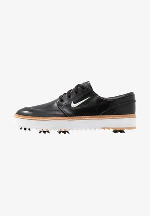 JANOSKI G TOUR - Golfové boty - black/metallic white/vachetta tan/medium brown/white