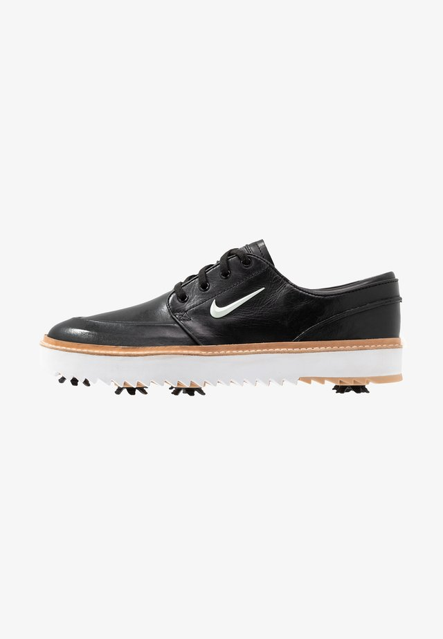 JANOSKI G TOUR - Golfkengät - black/metallic white/vachetta tan/medium brown/white