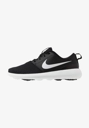 ROSHE G - Zapatos de golf - black/metallic white/white