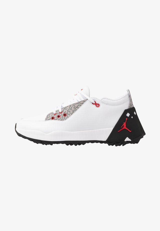 JORDAN ADG 2 - Golf shoes - white/university red/black