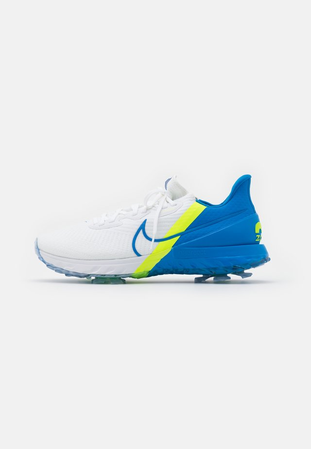 AIR ZOOM INFINITY TOUR - Golfkengät - white/baseball blue/volt