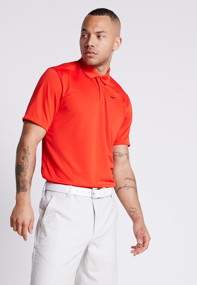 Nike Golf - DRY VICTORY - Polo - habanero red/black