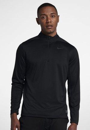DRI-FIT HERREN GOLFOBERTEIL MIT HALBREISSVERSCHLUSS - T-shirt sportiva - black