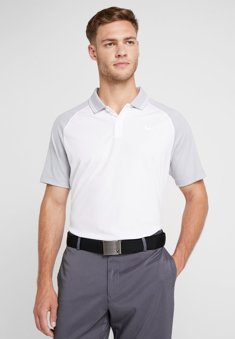 Nike Golf - DRY ESSENTIAL TIPPED - T-shirt de sport - white/wolf grey