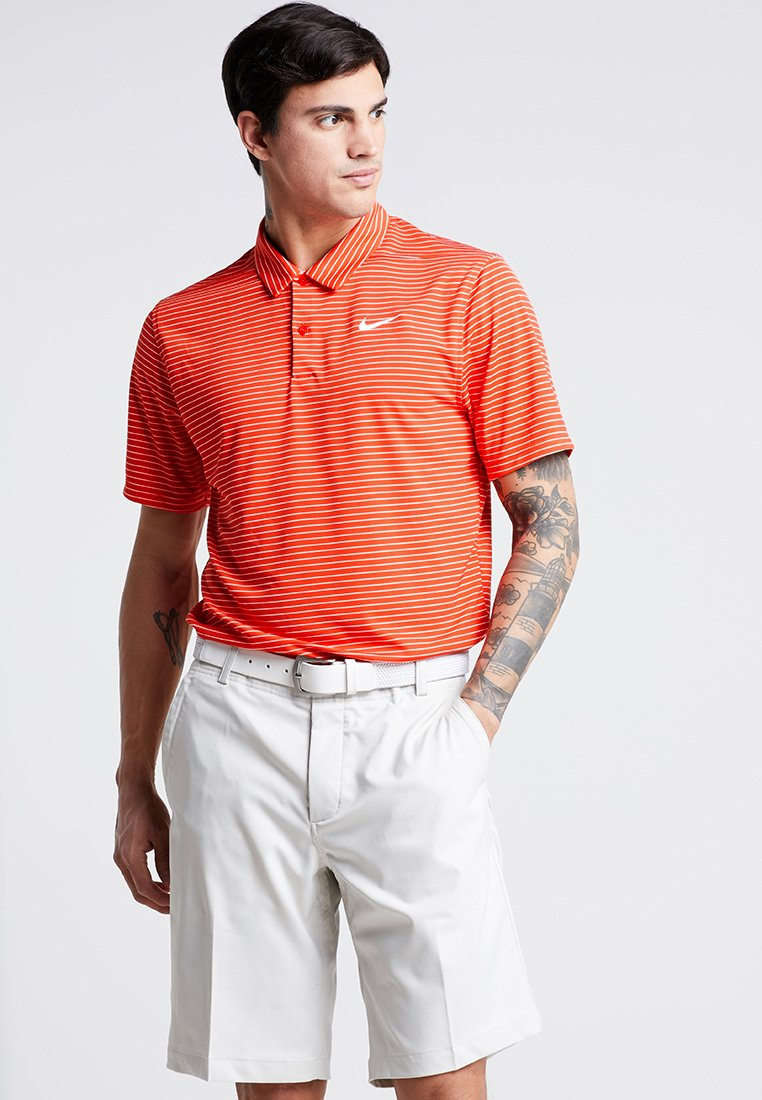 Nike Golf - DRY ESSENTIAL STRIPE - Camiseta de deporte - habanero red/summit white