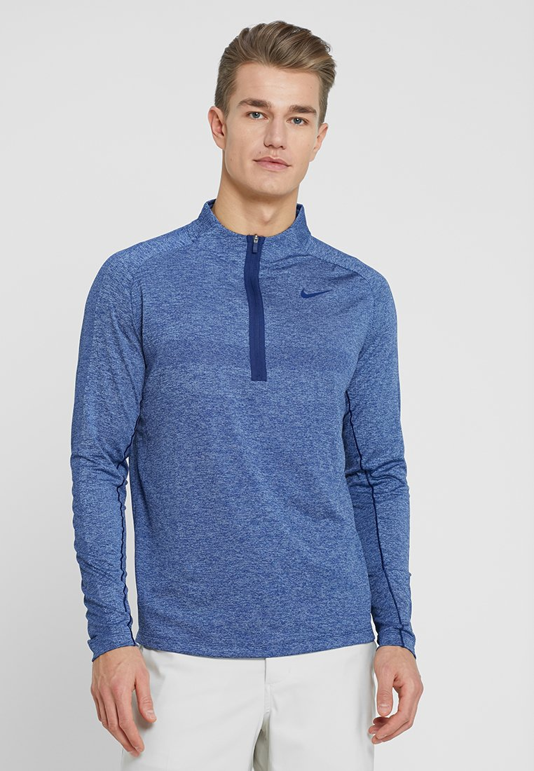Nike Golf - DRY TOP HALF ZIP - Sports shirt - blue void/indigo fog
