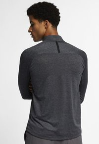 Nike Golf - DRY TOP HALF ZIP - Treningsskjorter - black/dark grey/black - 2