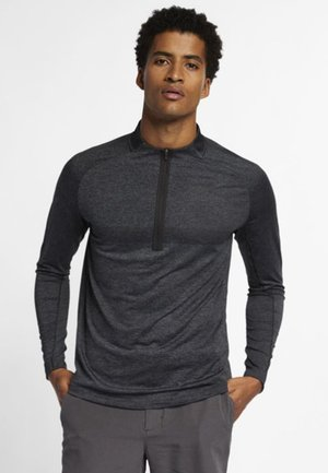 DRY TOP HALF ZIP - T-shirt sportiva - black/dark grey/black