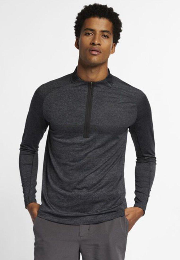 Nike Golf - DRY TOP HALF ZIP - Treningsskjorter - black/dark grey/black