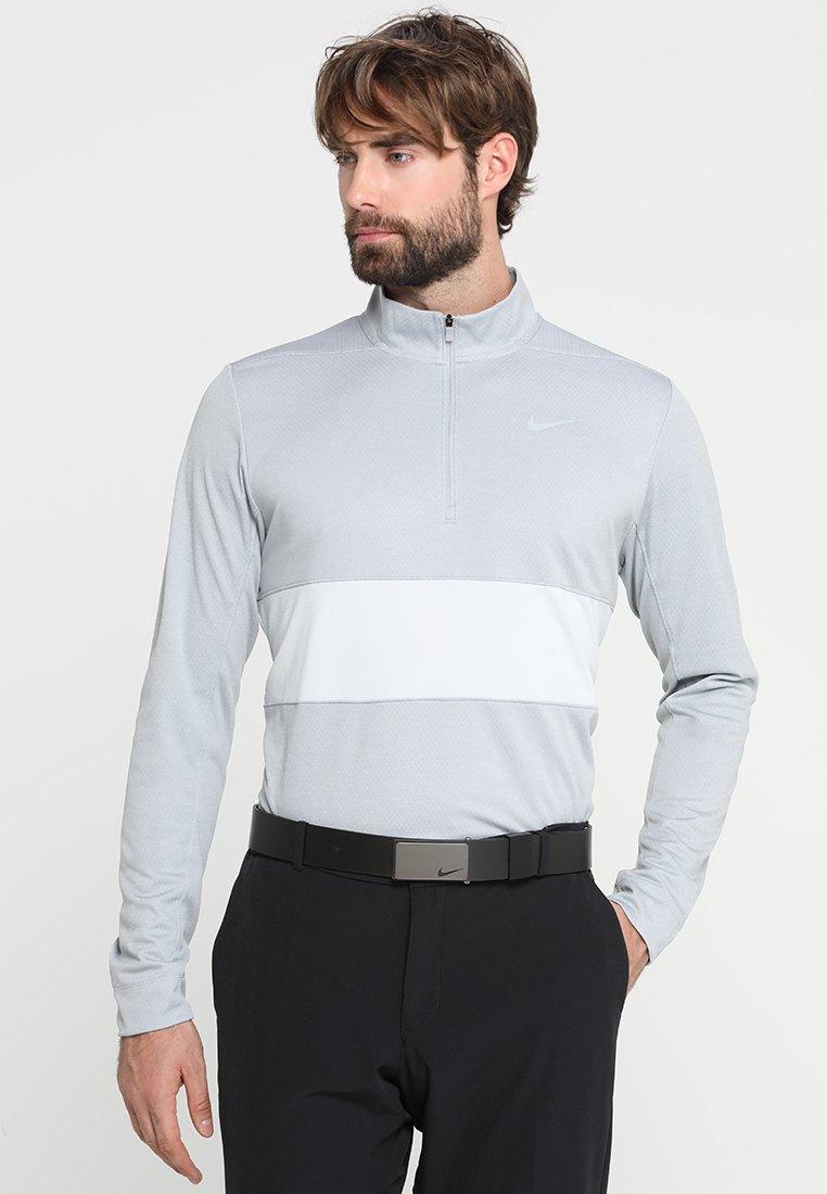 Nike Golf - DRY HALF ZIP ESSENTIAL - Funktionströja - wolf grey/pure platinum/pure platinum