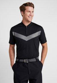 Nike Golf - TIGER WOODS DRY VAPOR REFLECT POLO - T-shirt imprimé - black - 0