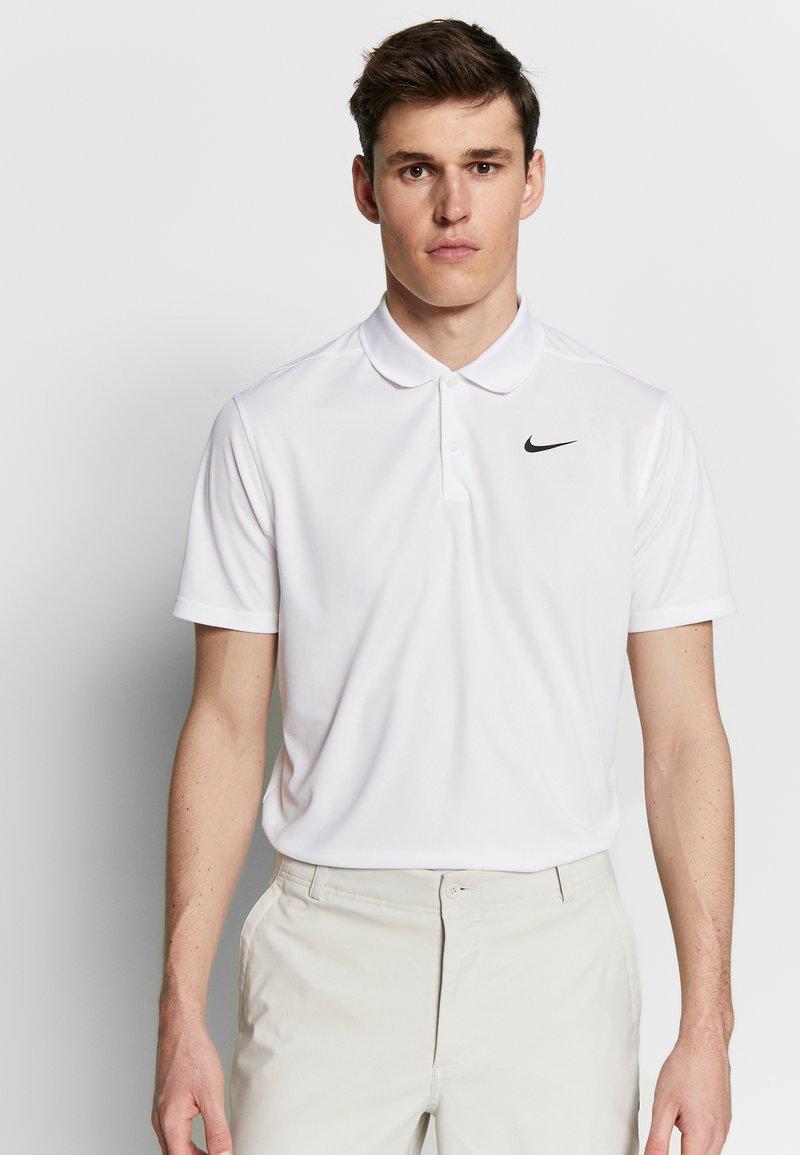 Nike Golf - DRY VICTORY SOLID - Funkční triko - white/black