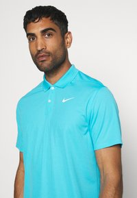 Nike Golf - DRY VICTORY SOLID - Sports shirt - blue fury/white - 4