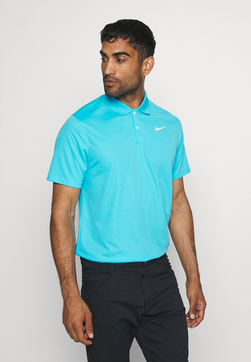 Nike Golf - DRY VICTORY SOLID - Sports shirt - blue fury/white