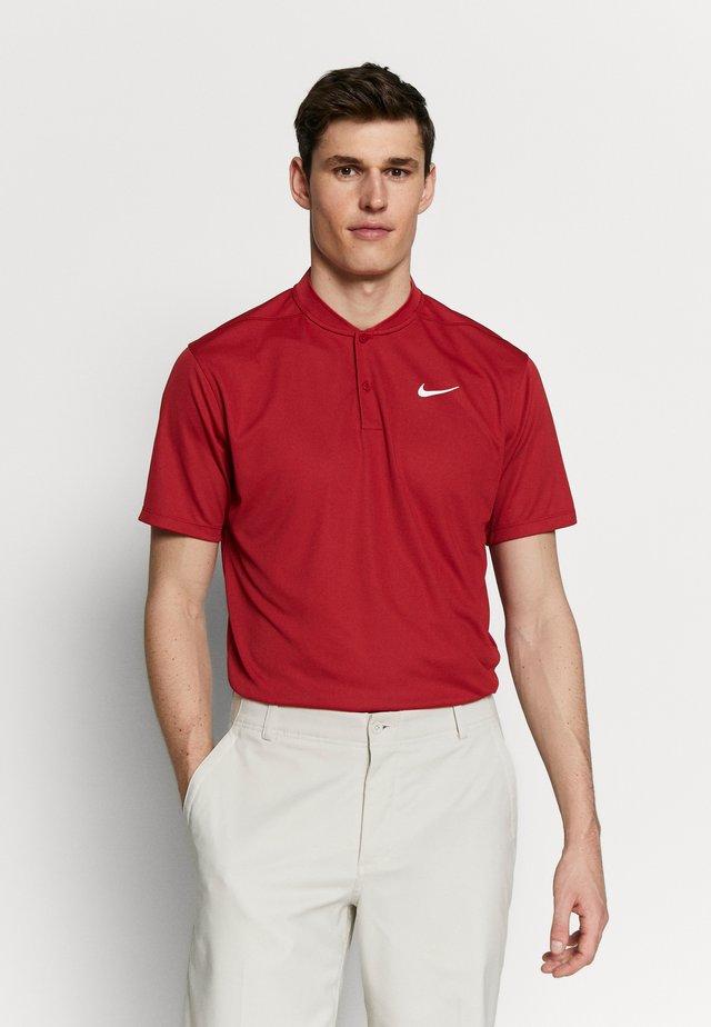 DRY VICTORY - T-shirt med print - sierra red/white