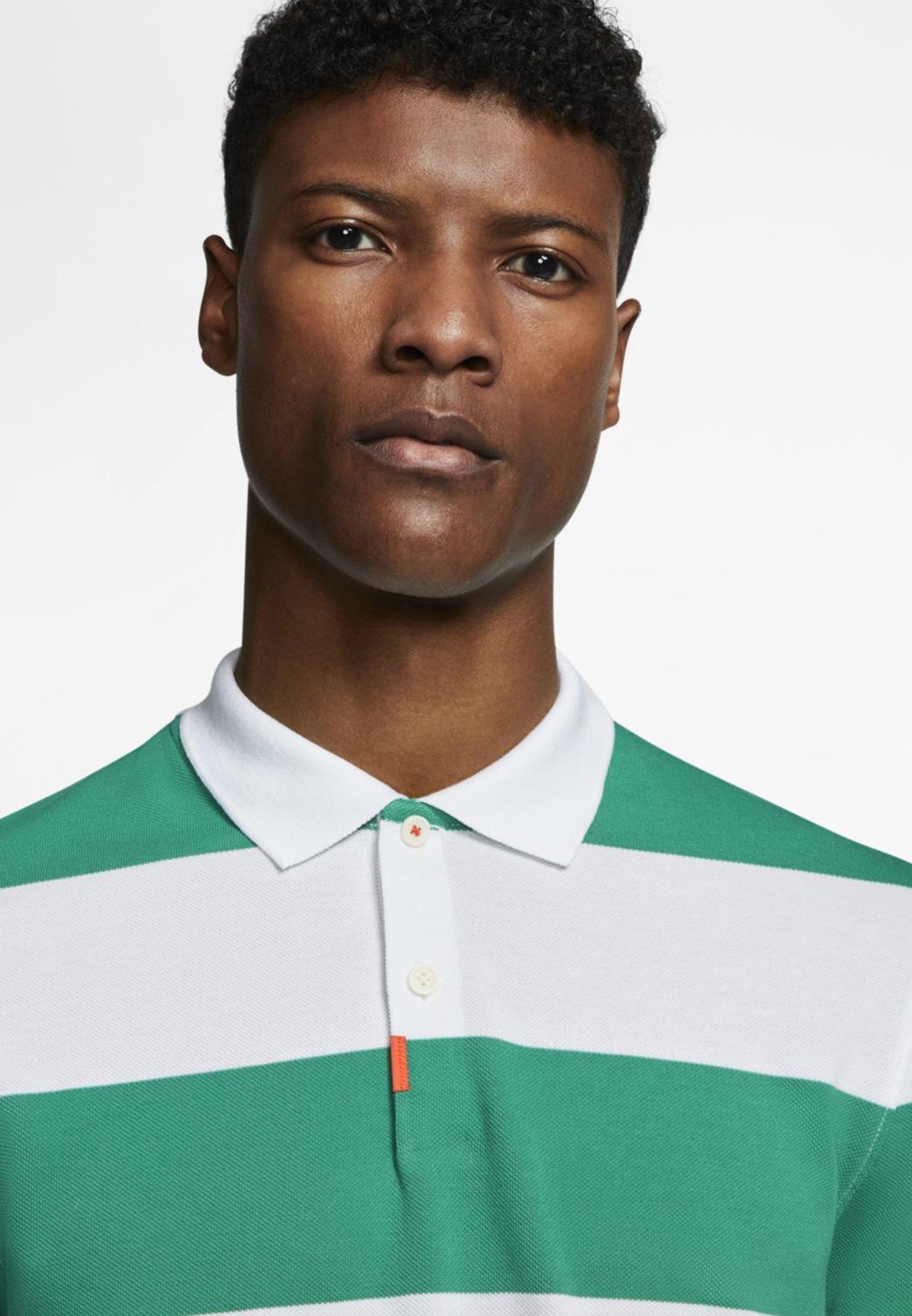 Nike Golf The Polo Glf Stripe Slim - Piké Neptune Green/white/white