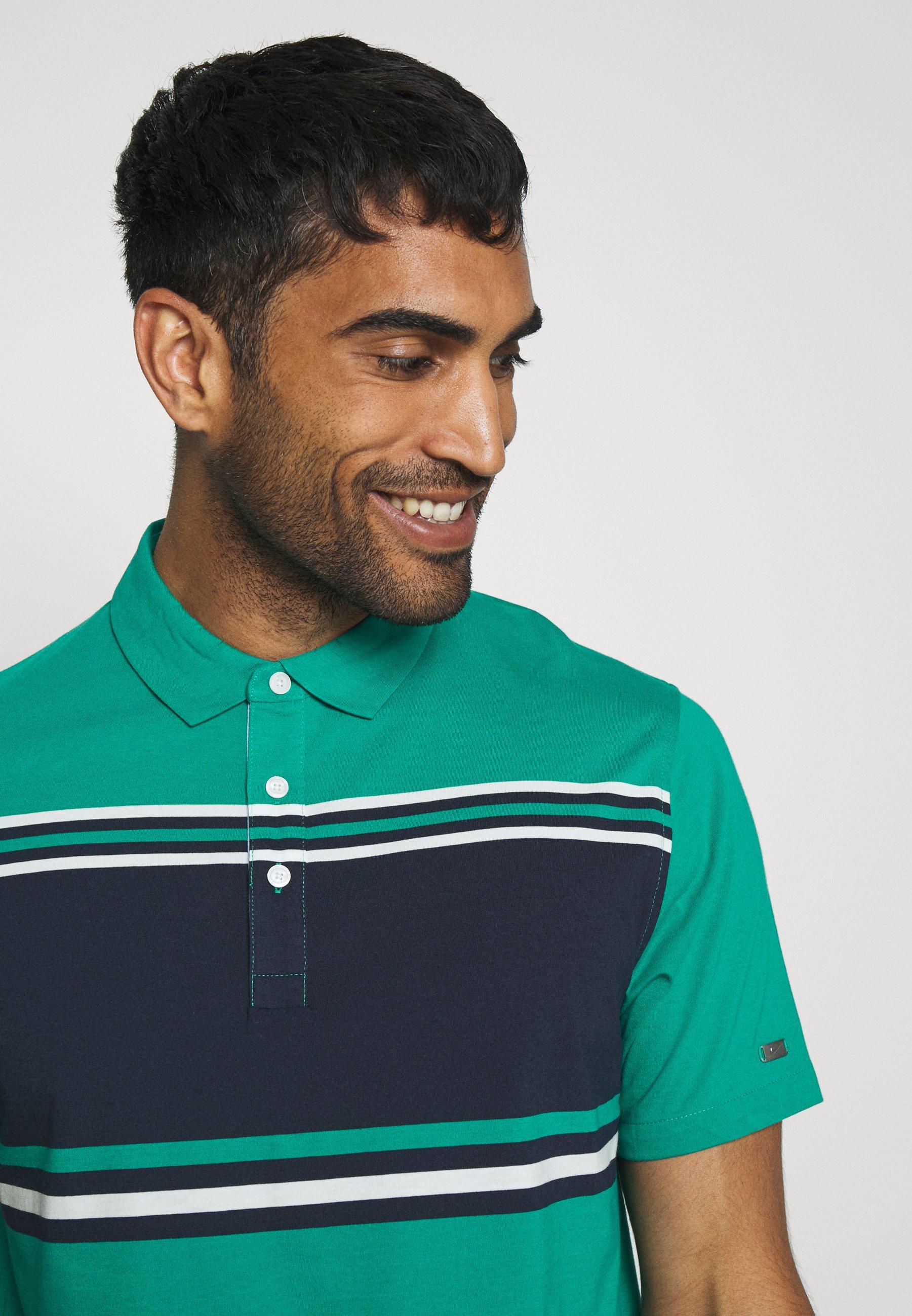 DRY PLAYER STRIPE T shirt de sport neptune greenobsidiansailflt silver