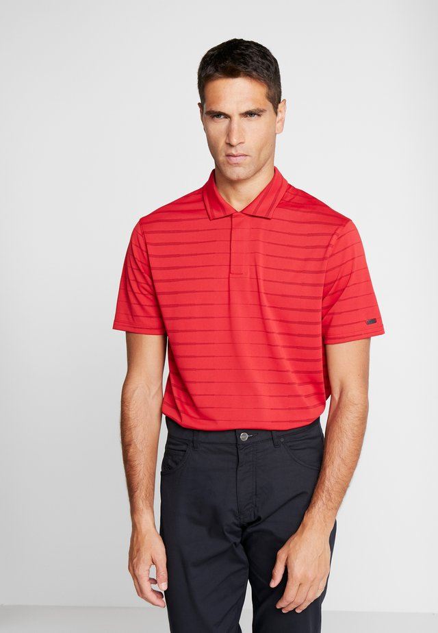 TIGER WOODS DRY NOVELTY - Sportshirt - gym red/black/black oxidized