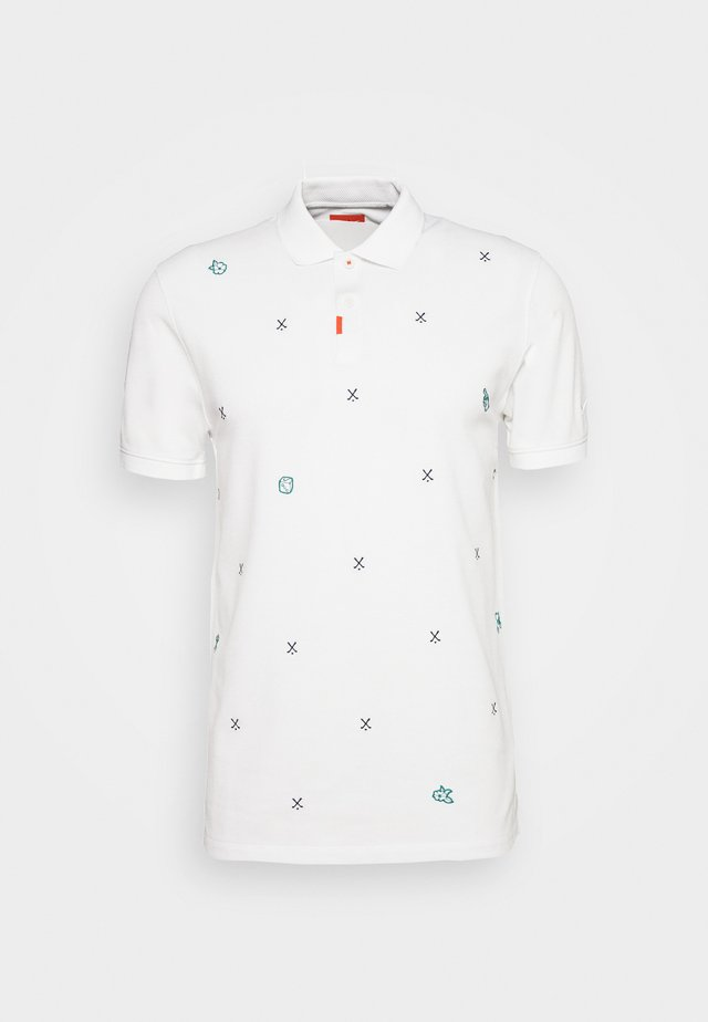 CHARMS  - Polo shirt - white/obsidian/neptune green
