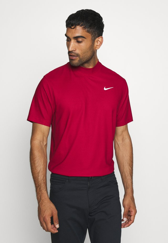 DRY POLO MOCK AIR - Print T-shirt - gym red/black/white