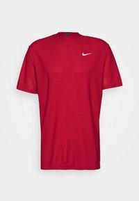 Nike Golf - DRY POLO MOCK AIR - Triko spotiskem - gym red/black/white - 4