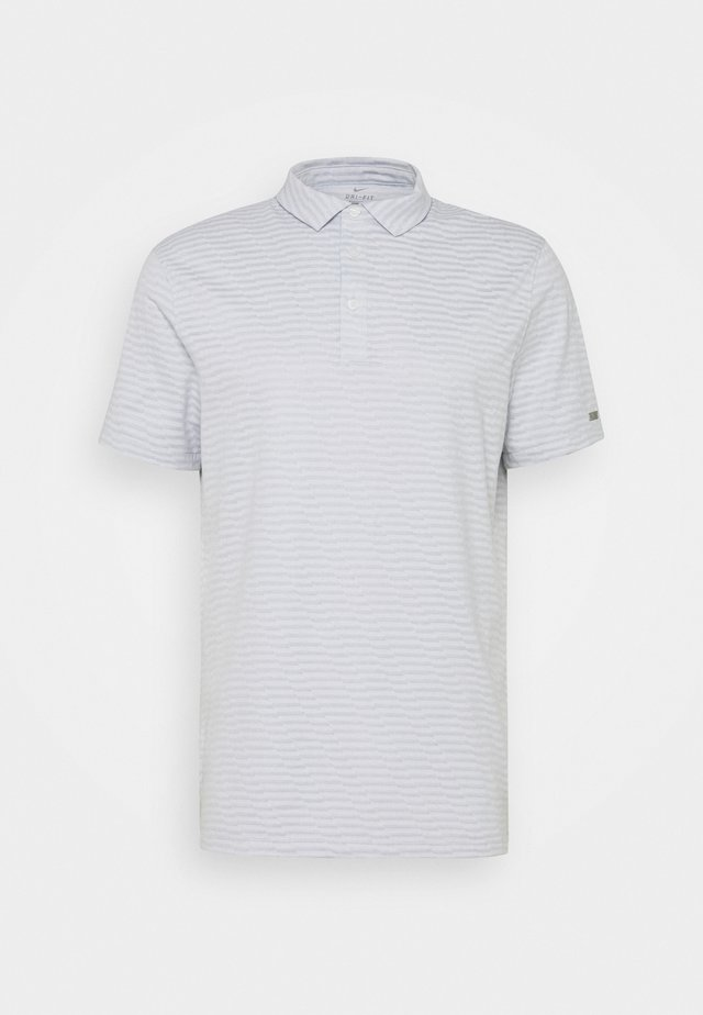 DRY PLAYER JAQUARD - Sportshirt - white/sky grey/brushed silver