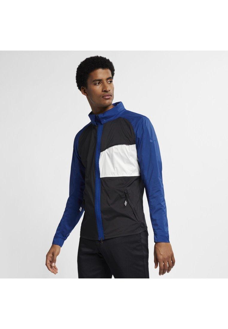 Nike Golf - SHIELD JACKET STATEMENT - Impermeable - black/indigo force/sail