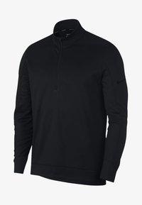 Nike Golf - THERMA REPEL TOP HALF ZIP - Felpa in pile - black - 0