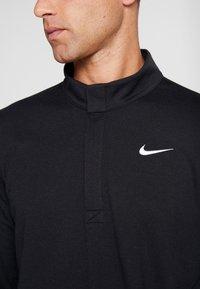 Nike Golf - NIKE DRI-FIT VICTORY HERREN-GOLFOBERTEIL MIT HALBREISSVERSCHLUSS - Funktionstrøjer - black/black/white - 4