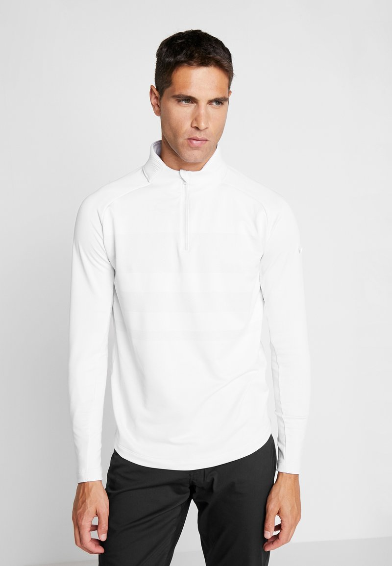 Nike Golf - NIKE DRI-FIT VAPOR HERREN-GOLFOBERTEIL MIT HALBREISSVERSCHLUSS - T-shirt de sport - white/sky grey