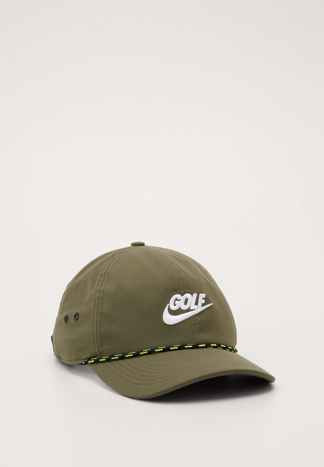 AROBILL ROPE - Cap - medium olive/anthracite/white