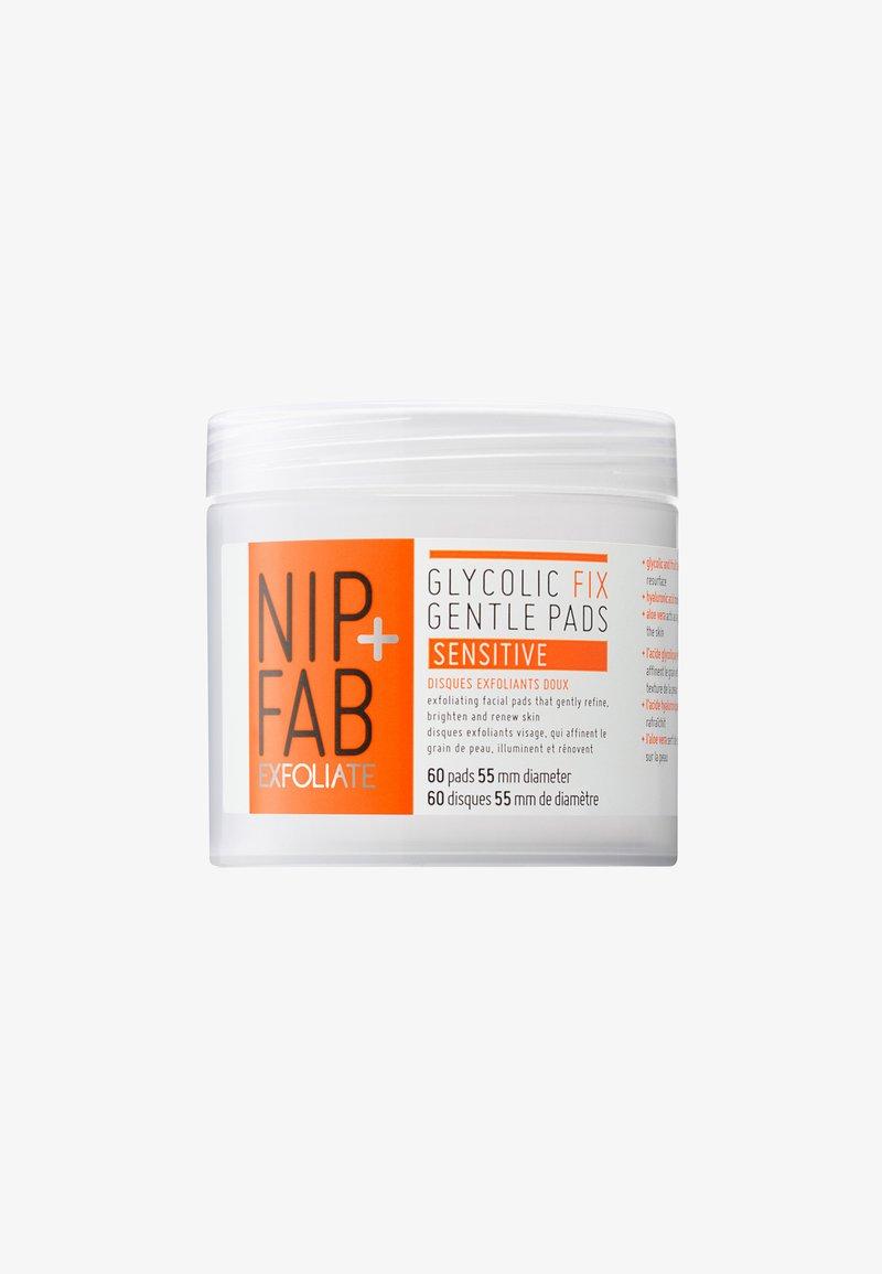 Nip+Fab - GLYCOLIC SENSITIVE PADS 80ML - Cleanser - -