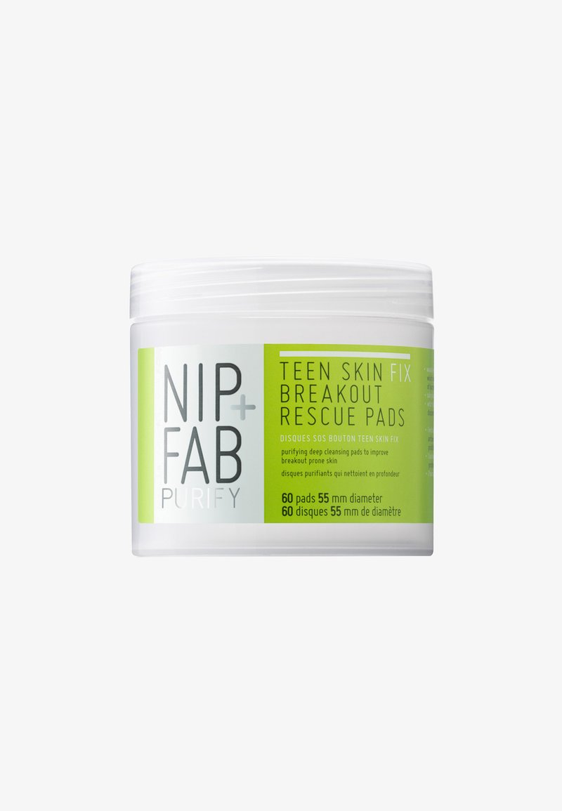 Nip+Fab - TEEN SKIN BRAKEOUT RESCUE PADS 80ML - Cleanser - -
