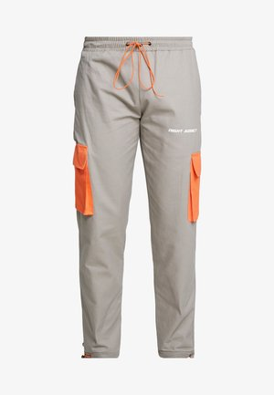 NIGEL - Cargobroek - slate/orange