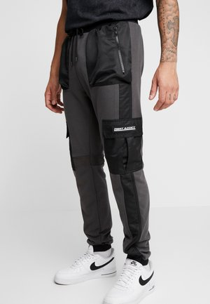 UTILITY - Pantalon cargo - black/grey