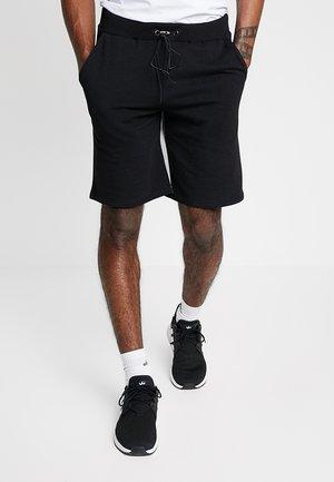 ANGELIS - Pantalon de survêtement - black/grey marl