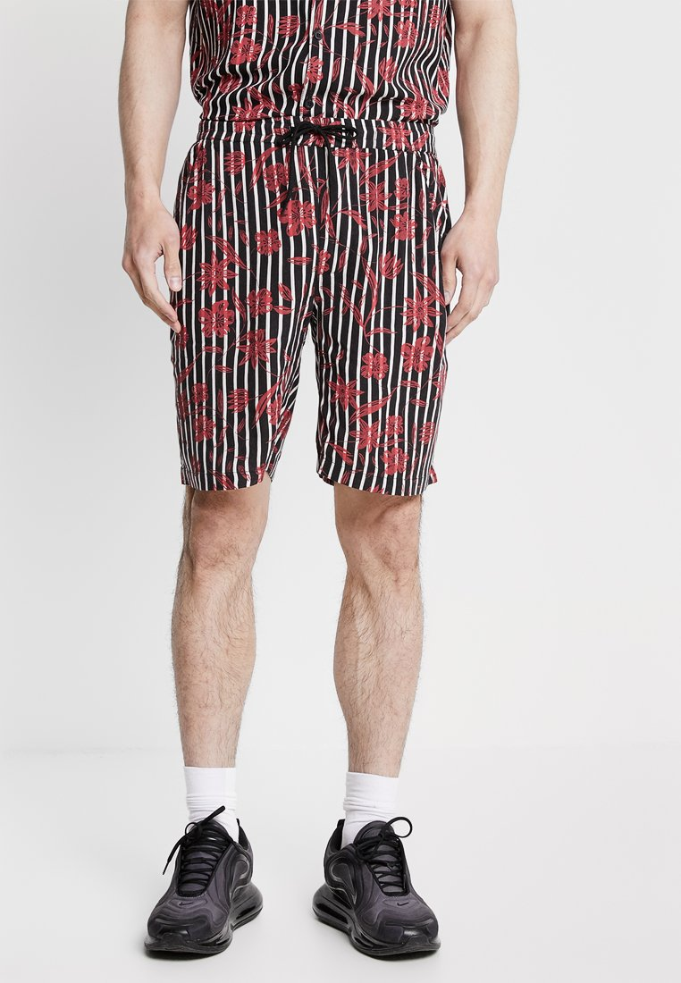 Night Addict - CAGE - Shorts - black/red