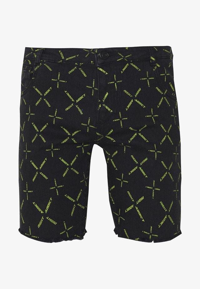 NAJOYCE - Jeans Shorts - black denim