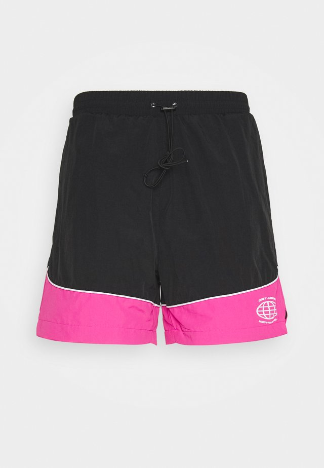 NAJOSHUA - Shorts - black/pink