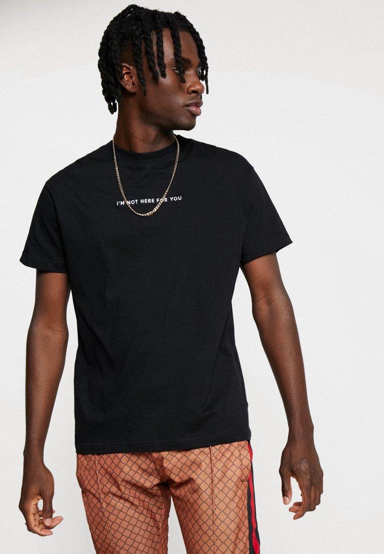 Night Addict - T-shirt imprimé - black