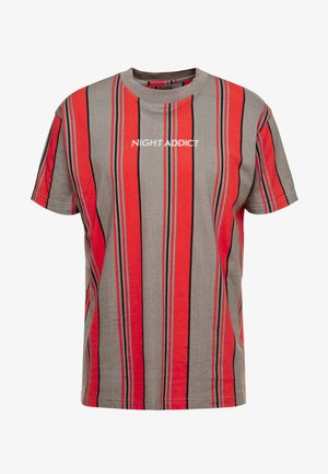 Camiseta estampada - red/grey/white stripe