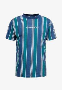 Night Addict - T-shirts med print - navy/ white stripe - 3
