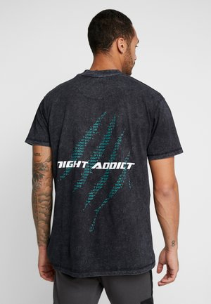 CYBIL - T-shirt imprimé - charcoal/black