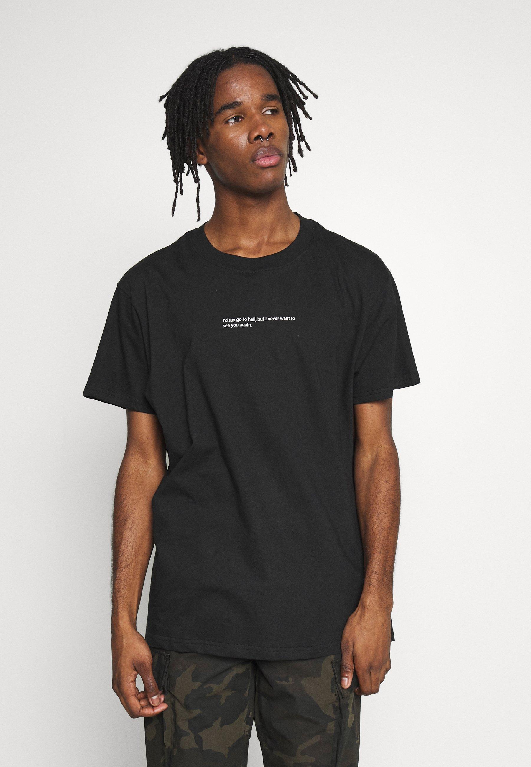 Night Addict HELL - T-shirt z nadrukiem - black