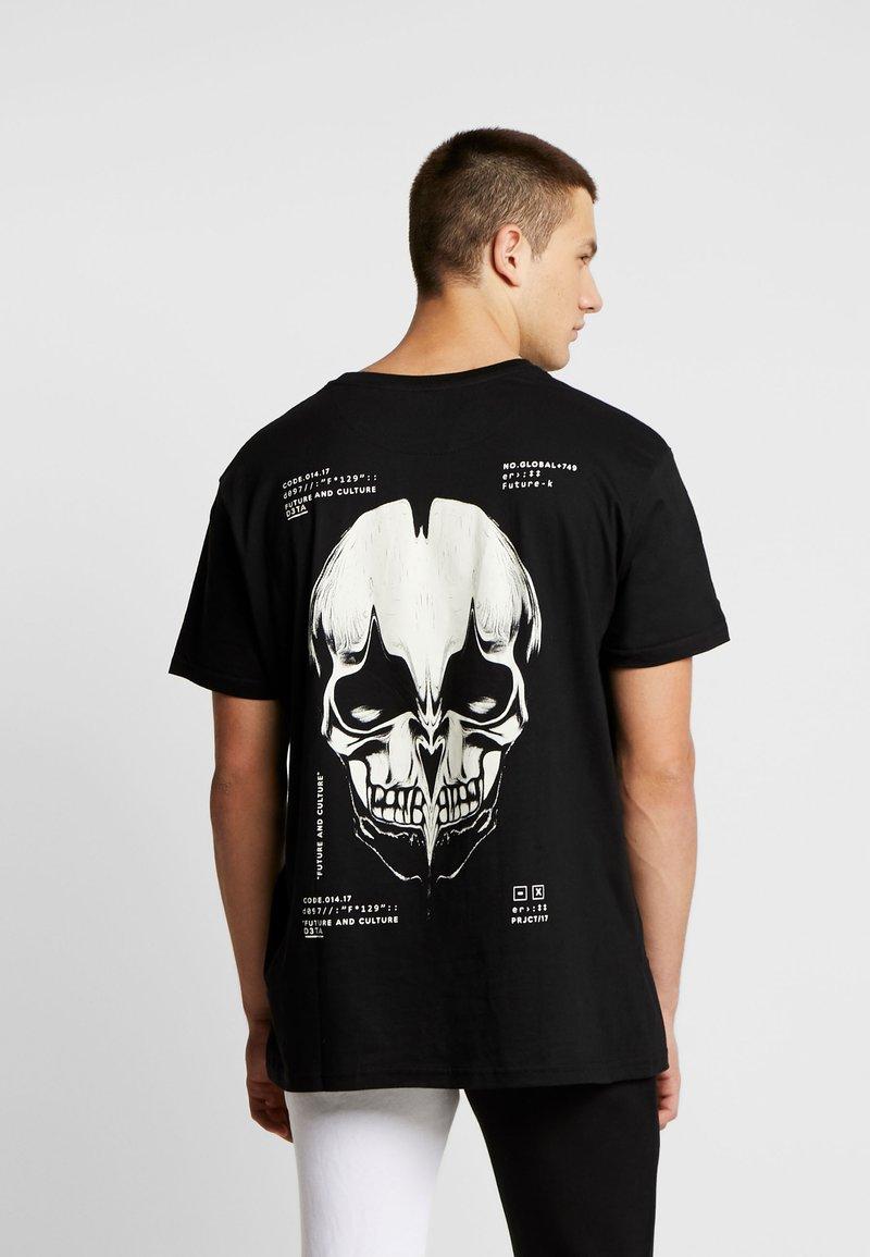 Night Addict - SKULL - Print T-shirt - black
