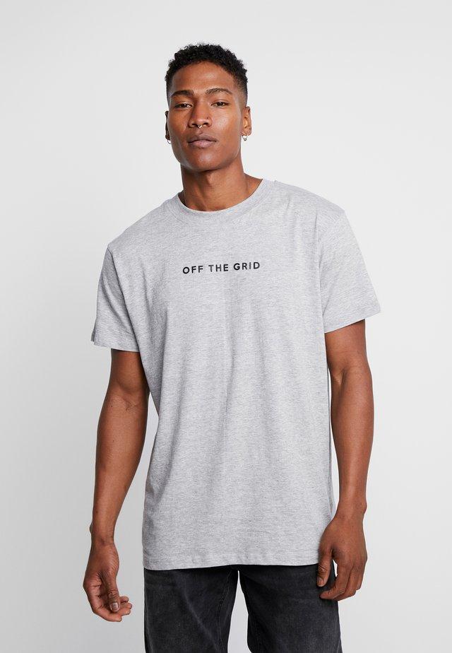 GRID - T-shirt med print - grey